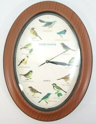 Oval Quartz Battery Powered Birds Clock with Bird Chirping on the Hour