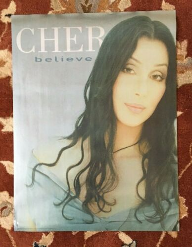 CHER  Believe  rare original promotional poster from 1998