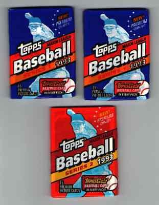 2 PACK 1993 TOPPS SERIES 1 DEREK JETER ROOKIE? Plus 1 Series 2 Pack FREE S&H Derek Jeter Rookie Series