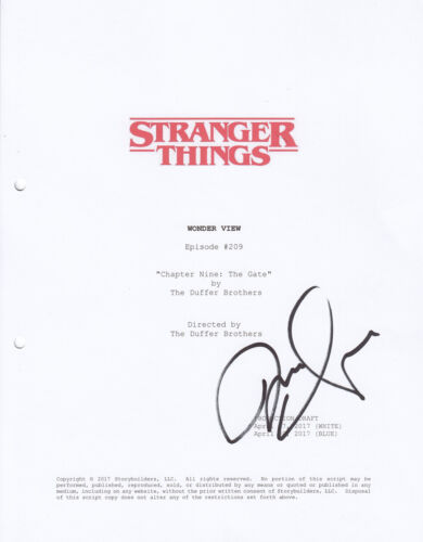 Michael Stein signed Stranger Things script cover AFTAL, UACC + Signing Details