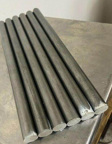 "12L14 Steel Bar Stock 3/4 in (.750) Round x 12""  (6 Piece Lot)"
