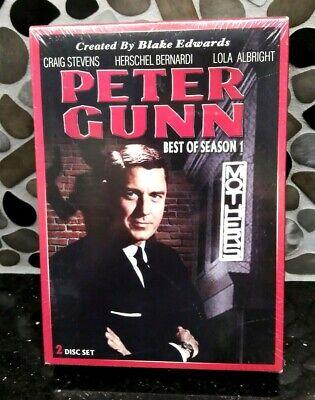 Peter Gunn The BEST OF SEASON 1 FIRST on 2 DVD Movie Crime Gun Detective TV