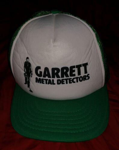 GARRETT METAL DETECTORS ADJUSTABLE SNAPBACK HAT CAP TRUCKER STYLE VINTAGE GREEN