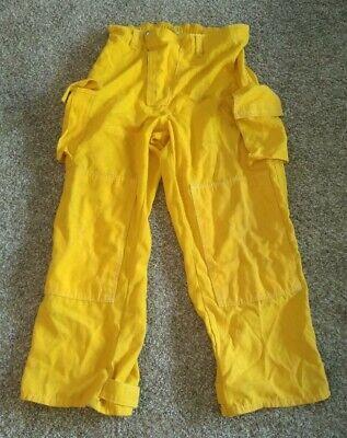 Cascade Fire Equipment Mens Pants Yellow Fire Gear Flame Resistant V