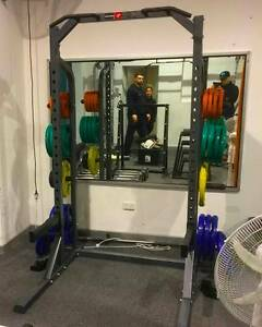 Commercial Squat Rack + Weight Plates + Commercial Olympic Bar Goodwood Unley Area Preview