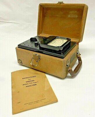 Vintage 1948 Weston Model 779 Type 1 Analyzer Woriginal Instruction Booklet