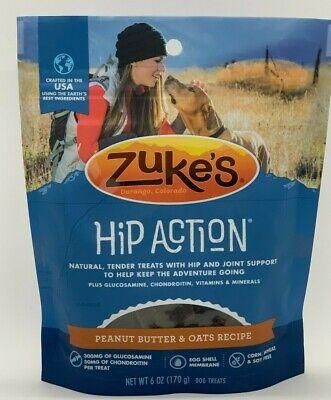 Zukes Hip Action Dog Treats Peanut Butter & Oats Recipe - 6