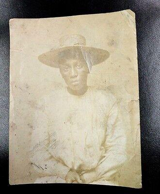 Vintage 16 Year Old Black Girl Mugshot Arrest Prison Card - Alabama (Rare 1910)