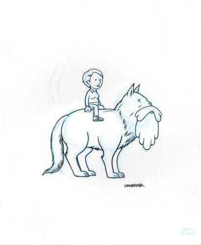 PAUL HORNSCHEMEIER French Ex Libris ILLUSTRATION ORIGINAL COMIC ART