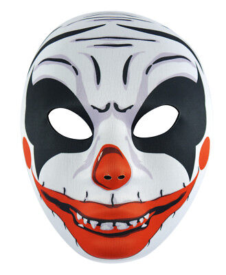 Gruseliger Clown Gesichtsmaske - Halloween Kostüm Erwachsene Joker Zubehör Trick