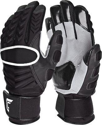 Cutters 017LP Reinforcer Gloves Padded Football Lineman Full Finger (PAIR)