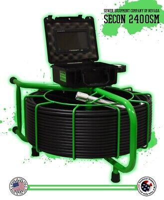 200 Secon-2400sm Inspection Usa Sewer Camera Snake 512hz Sonde Counter Rec