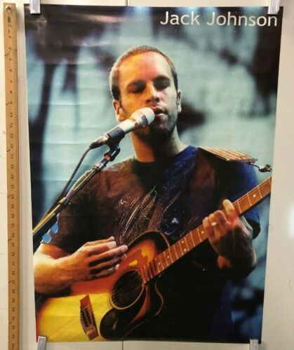 VINTAGE MUSIC POSTER Jack Johnson Live On Stage With Acoustic Guitar Iconic Rock