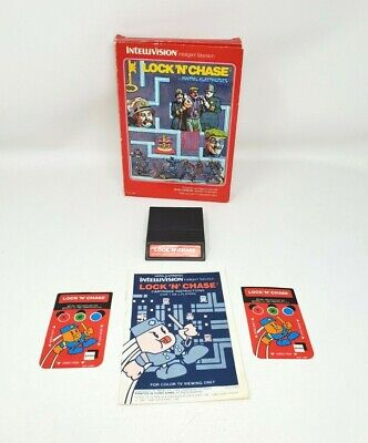 Intellivision Lock N Chase 1982 Video Game Used Tested Box Cartridge and Manual