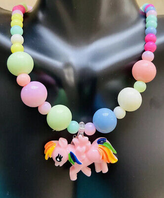 Adorable Unicorn Necklace And Bracelet Set Chunky Jewelry For Girls Little Kids