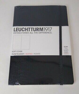Leuchtturm 1917 Soft Cover Slim Black Bullet Journal Dot Grid New Ships Free