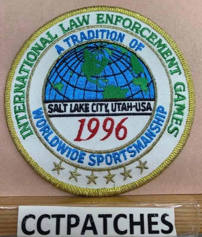 1996 SALT LAKE CITY, UTAH INTERNATIONAL LAW ENFORCEMENT GAMES PATCH UT