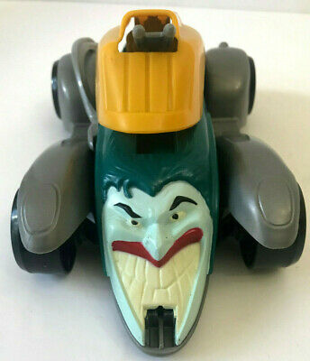 JOKER Vintage BATMAN Car 1993 DC Comics 8 1/2 Inches Long Gray Yellow Turquoise