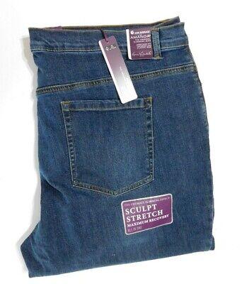 GLORIA Vanderbilt Ladies' Amanda Denim Jeans Blue Sz 22W AVE Classic tapered NEW