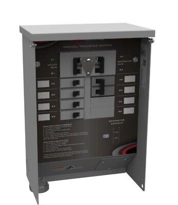 Milbank Mmts301sysx1c 30 Amp 8 Circuit Manual Transfer Switch