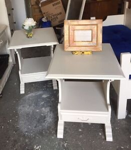 Solid Wood White Side Tables