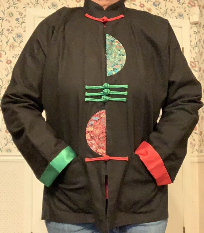 Traditional Chinese Jacket Black 155/80A Black Red Green Women