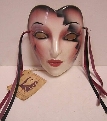 Clay Art About Face? Lady Jester Crying Mask Claudia Cohen Jenny McLain Wall Art
