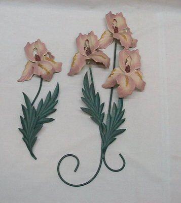 Home Interior Homco(Set of Two)Beautiful Iris Plaques