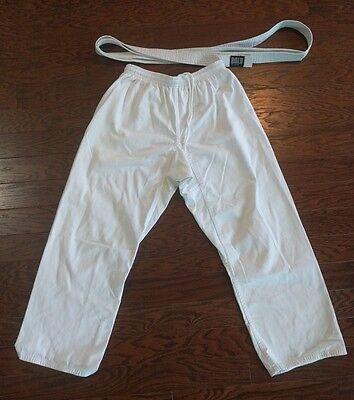 Martial Arts Brazilian Jiu-Jitsu Judo Ligth Wear Hi Pants Size 5 + belt