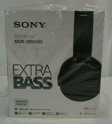 Sony XB950B1 BLACK Wireless Bluetooth Extra Bass Headphones W/ App Control, NEW