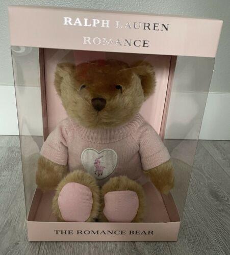 2021 ROMANCE POLO TEDDY BEAR PINK SWEATER TAN BROWN RALPH LAUREN NEW IN GIFT BOX