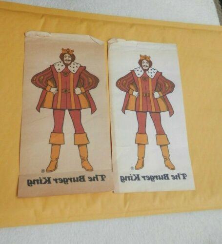 "2 Vintage 1970  ""THE BURGER KING SUBLISTATIC HEAT TRANSFER""   t-shirt iron on"