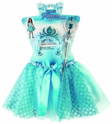 Blue Princess Child Royal Dress Up Halloween Costume Accessory Ki