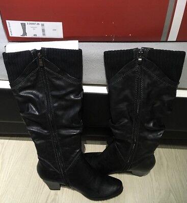 Stiefel Damen Schwarz Gr. 40 ( Marco Tozzi )