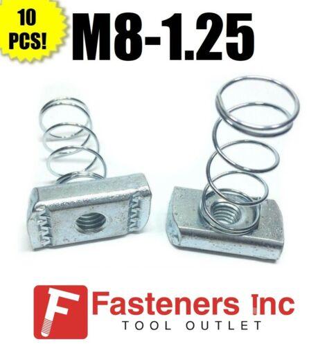 (#4196) P1007M8 EG M8-1.25 Metric Strut Spring Nuts for Unistrut Channel 10/BOX