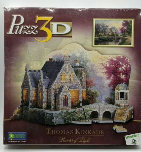 Thomas Kinkade - Lamplight Manor - Puzz 3D - Wrebbit - Sealed! Puzzle