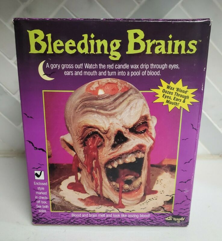 Fun World Bleeding Brains Oozing Goriest Zombie Halloween Candle