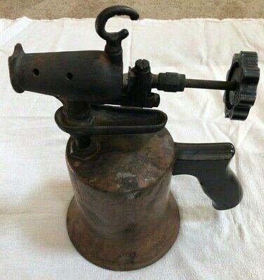 Antique Brass Craftsman Blow Torch Vintage Tool Soldering Blowtorch