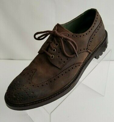 Andrea Ventura Firenze Oxford Wingtip Brogue Mens Brown Leather Shoes EU43 US10