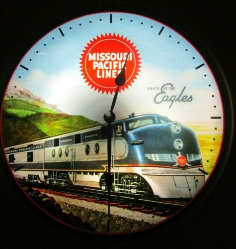 New old fashioned Missouri Pacific Lines lighted (LED) clock - NIB