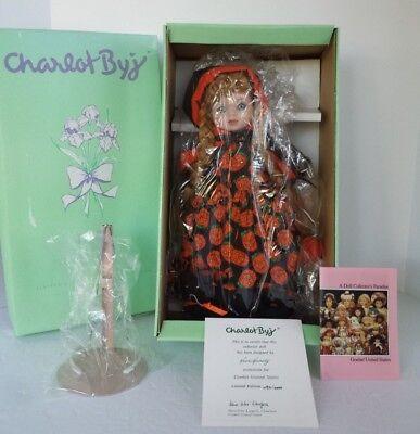 Porcelain Dolls Halloween (NRFB GOEBEL CHARLOT BYJ PORCELAIN DOLL MISCHIEF EVE HALLOWEEN PLAYS MEMORY)