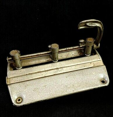 3 Hole Punch Master Products Mfg. Co. Usa Series 5000 Vintage Office Supplies