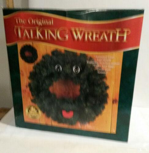 Original Talking Wreath Christmas Holiday animated eyes mouth talks sings Gemmy