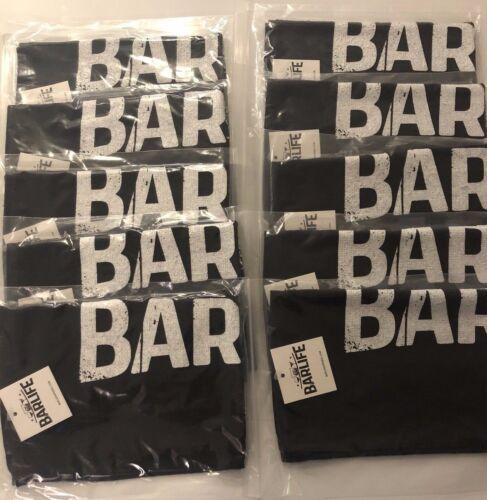 11X17 Rally Towel, Bar Towel, Black with Bar Life logo 10 Count
