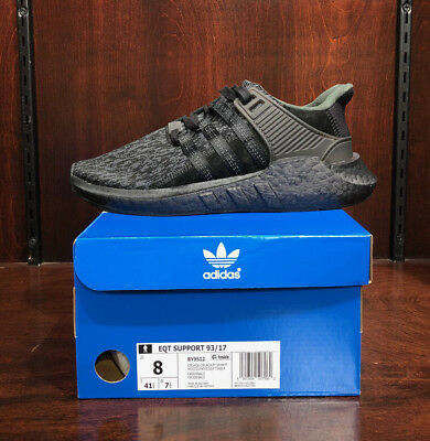 Adidas Eqt Support 93 17  Triple Black   By9512