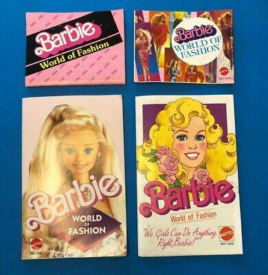 Lot of 80's  era Fashion Booklets for Barbie doll 1983-1988 era