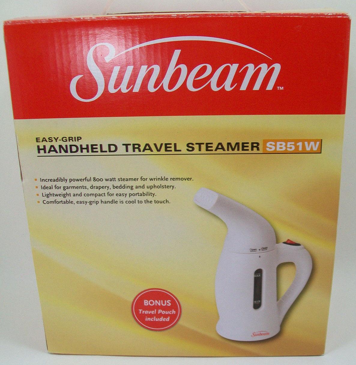 NEW SUNBEAM HANDHELD TRAVEL STEAMER MODEL # SB51W WHITE