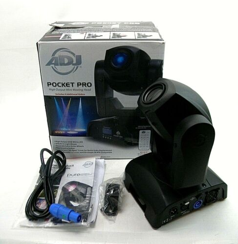 American ADJ Pocket Pro 25w LED DMX Mini Moving Head GOBO Beam Club Light (5/T)