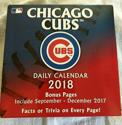 2018 Chicago Cubs Daily Desk Calendar Daily Facts & Trivia for sale  Whitehall