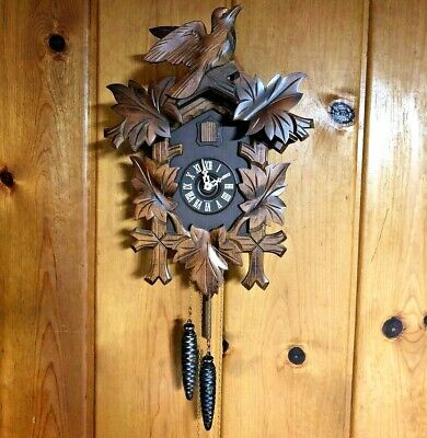 ⭐️Vintage Black Forest Reuge 1 Day Cuckoo Clock Made in Germany⭐